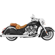 Chrome 4 in. Liberty Slip-On Mufflers w/Black Tip - IN00029