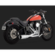 Chrome Hi-Output 2-into-1 Short Exhaust System - 16543
