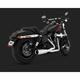Chrome Hi-Output 2-into-1 Short Exhaust System - 16541
