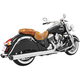 Chrome 4 in. Liberty Slip-On Mufflers w/Black Tip - IN00042