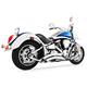Chrome Sharp Curve Radius Series Exhaust System - MK00003