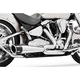 Chrome Combat Series Exhaust System w/Black Tip - MK00015