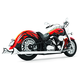 Chrome Sharktail Series Exhaust System - MY00065