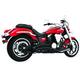 Black Ceramic Sharp Curve Radius Series Exhaust System - MY00080
