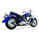 Chrome Sharp Curve Radius Series Exhaust System - MY00081