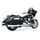 Chrome Race Full Exhaust System w/Black Tip - MY00093