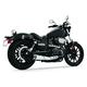 Chrome American Outlaw Series Slip-On Muffler w/Black Tip - MY00149
