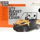 Black UTV Bench/Bucket Seat Cover - 18-143-010403-0