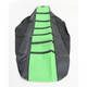 Black/Green Pro Rib Kevlar Seat Cover - 25505