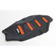 Black/Orange Ribbed Seat Cover - 0821-2369