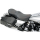 Low-Profile Touring Seat w/EZ Glide Backrest & Red Pinstripe - 0801-0528