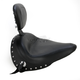 Wide Studded Solo Seat w/Driver Backrest - 79830