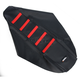 Black/Red Ribbed Seat Cover - 0821-1788