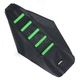Black/Green Ribbed Seat Cover - 0821-1797