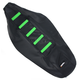 Black/Green Ribbed Seat Cover - 0821-1802