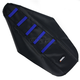 Black/Blue Ribbed Seat Cover - 0821-1810
