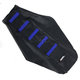 Black/Blue Ribbed Seat Cover - 0821-1814