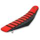 Black/Red/Black Pro Rib Kevlar Seat Cover - 15502