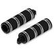 Black Fat Custom Footpegs - HDPG-4566BB