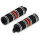 Black/Orange Fat Custom Footpegs - HDPG-4566BO