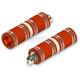 Orange/Chrome Fat Custom Footpegs - HDPG-4566OC