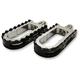Chrome BMX/Beartrap Style Footpegs w/Black Teeth - LA-7205-01