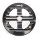 Matte Black/Aluminum Finned Ducati-Style Cut-Out Clutch Cover - 12-062B