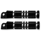Black Contour Style Footpegs - 0035-0065-B