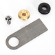 Rubber Mount Weld-On Finger Tab w/Brass Washer - 003359