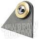 Rubber Mount Weld-On Triangular Tab w/Brass Washer - 003371