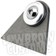 Rubber Mount Weld-On Triangular Tab w/Stainless Washer - 003370