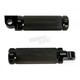 Black Re-Machined Small V-Line Footpegs - TM-2065BK