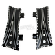 Black V-Line Driver Floorboards - TM-2044RC