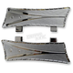 Chrome V-Line Driver Floorboards for Indian - TM-6010CH