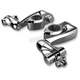 Chrome Adjustable Highway Peg Mounts w/4 in. Extension, Clevis and Peg Mounts - 60005