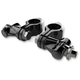 Black Adjustable Highway Peg Mounts w/Clevis and Peg Mounts - 60023