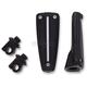 Black Adjustable Rail Footpegs - 61022