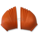 Orange Footpeg Covers - 2106960036
