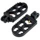 Black Long Serrated Foot Pegs - 08-56-4B