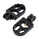 Black Short Serrated Foot Pegs - 08-57-4B