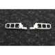 Raw Aluminum Adjustable Serrated Billet Footpegs - 08-61-3