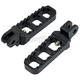 Black Narrow Serrated Foot Pegs - 08-61-4B