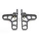 Black Anodized Adjustable Serrated Heel Billet Footpegs - 08-62-3B