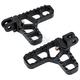 Black Billet Serrated Heel Pegs - 08-62-4B