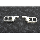 Raw Aluminum Adjustable Serrated Billet Footpegs - 08-642-3