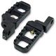 Black Anodized Adjustable Serrated Billet Footpegs - 08-642-3B