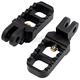 Black Stubby Serrated Foot Pegs - 08-642-4B