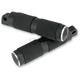 Black/Rubber Footpegs - RP111RN