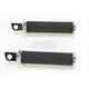 Chrome Tracker Footpegs w/45 degree Male Mounts - 0035-1087-CH