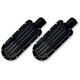 Gloss Black Finned Passenger Footpegs - C1243-B